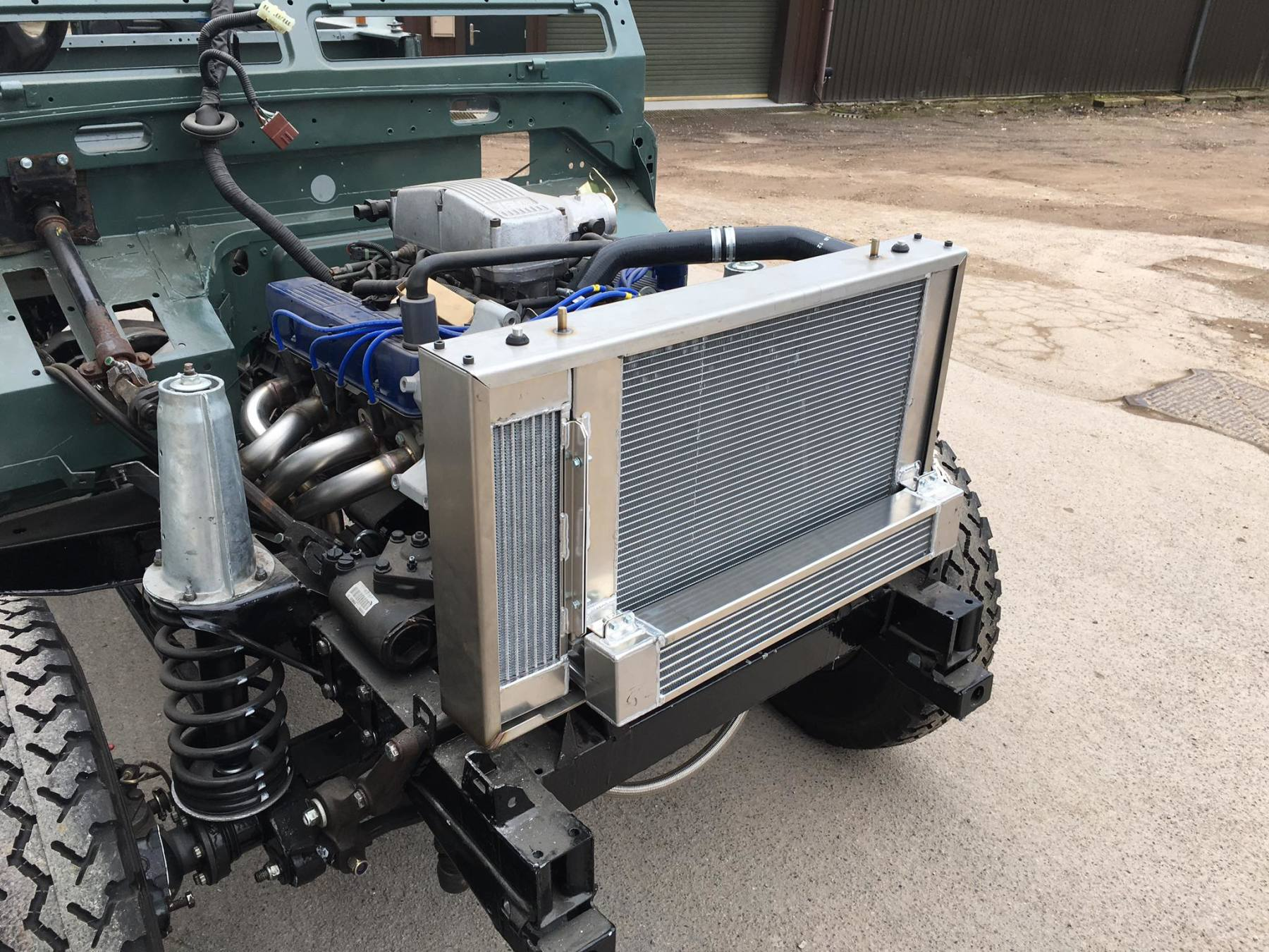Landrover water radiator and oil cooler pack